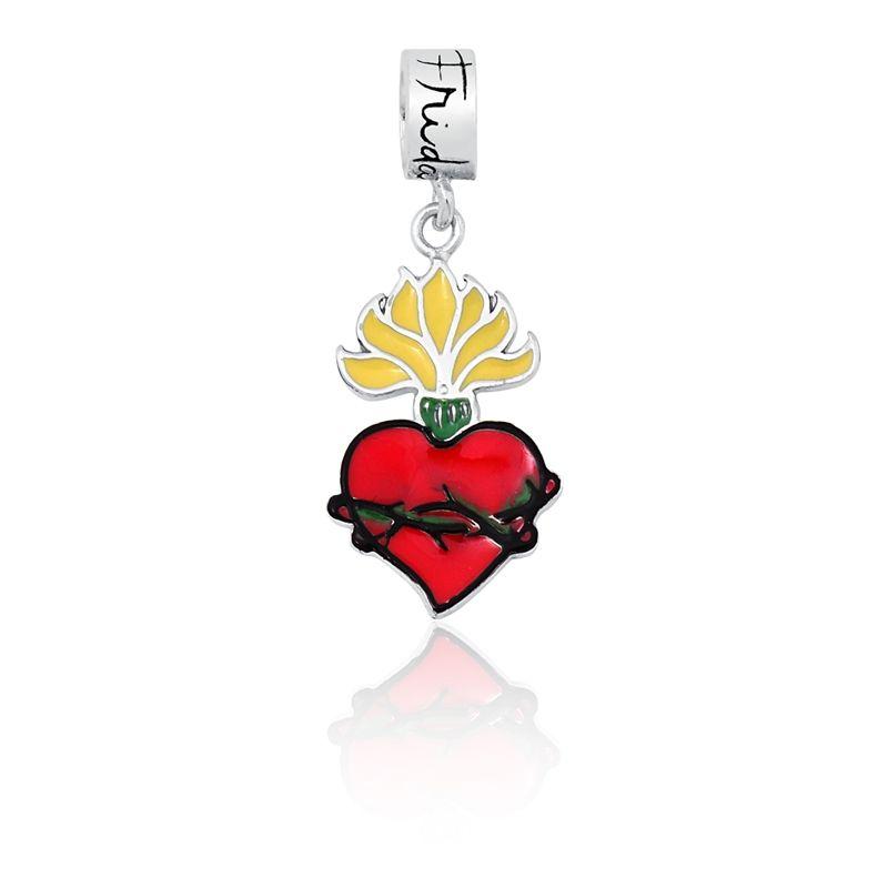 Berloque Coração Flamejante Frida Kahlo