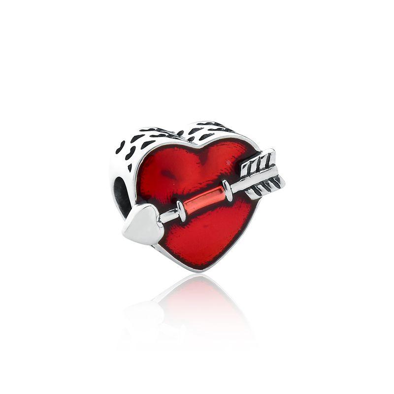 Berloque Coração Flechado