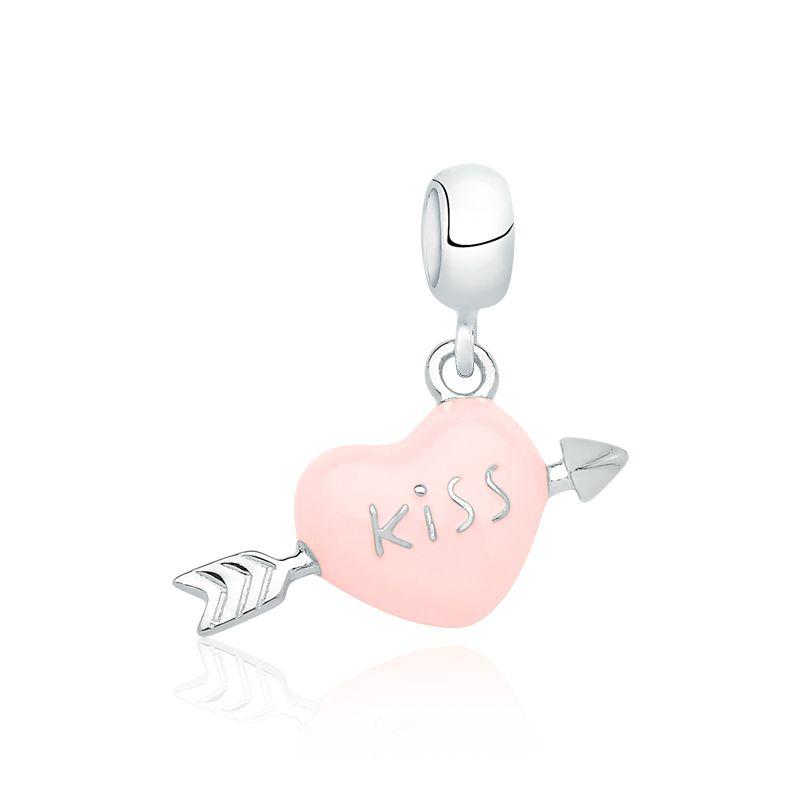 Berloque Coração Kiss