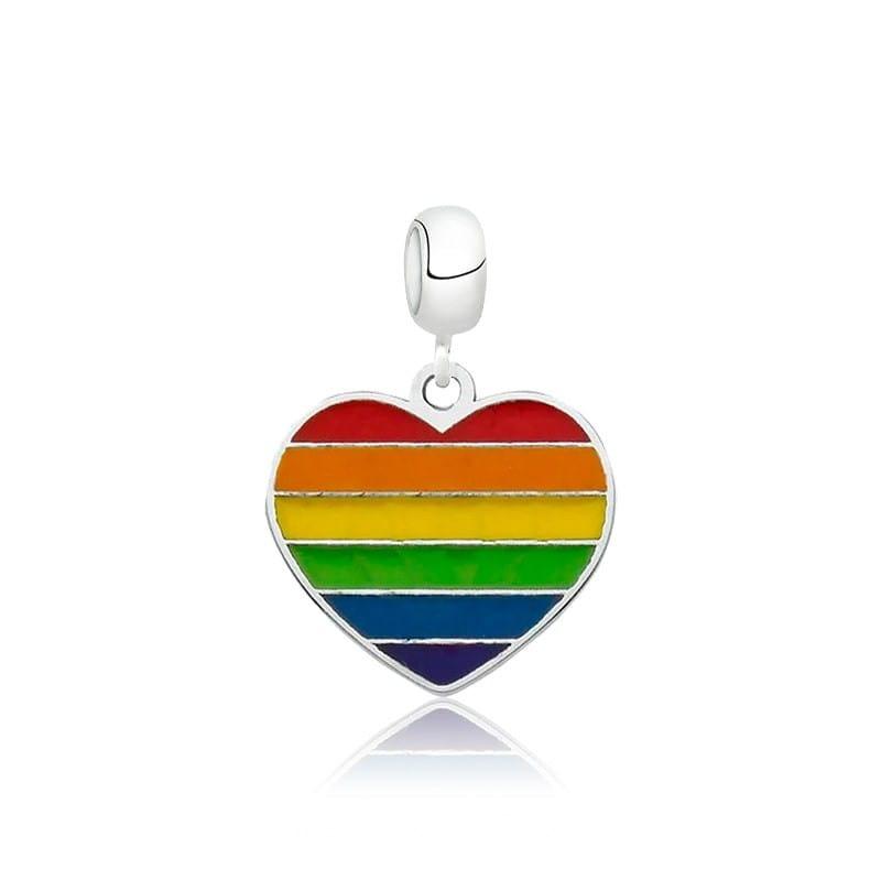 Berloque Coração LGBTQIA+