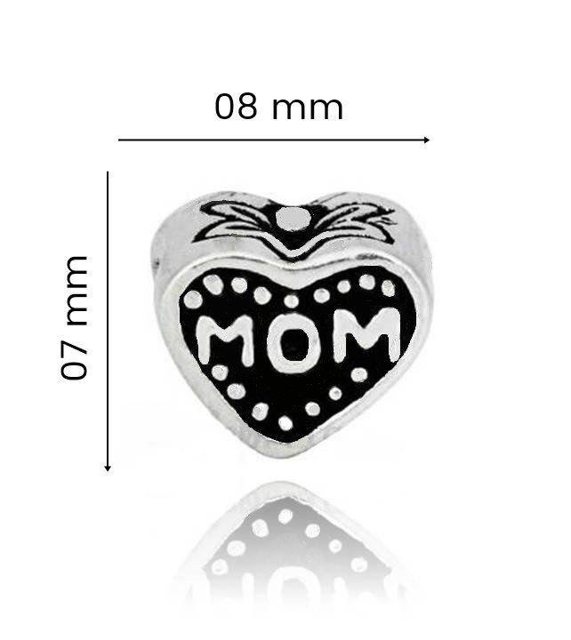 Berloque Coração Love Mom