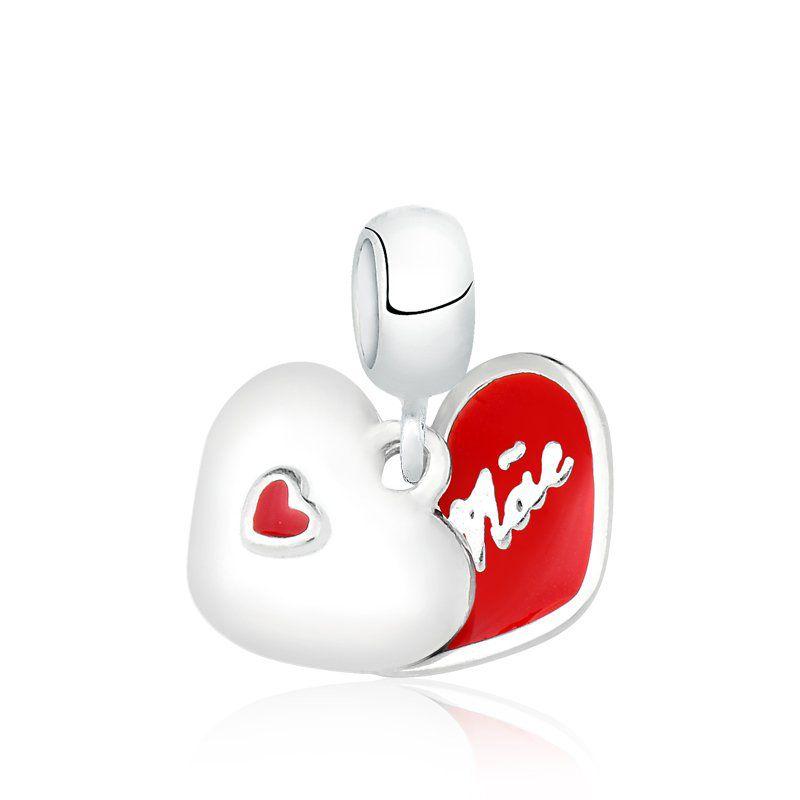 Berloque Coração Mãe