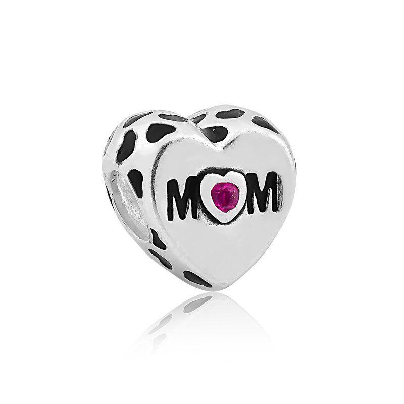 Berloque Coração Mãe - Mom