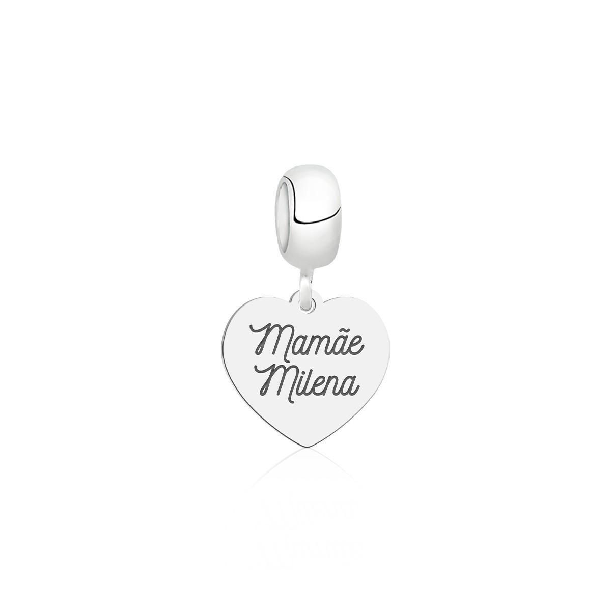 Berloque Coração Mamãe Personalizado (Ler Descrição)