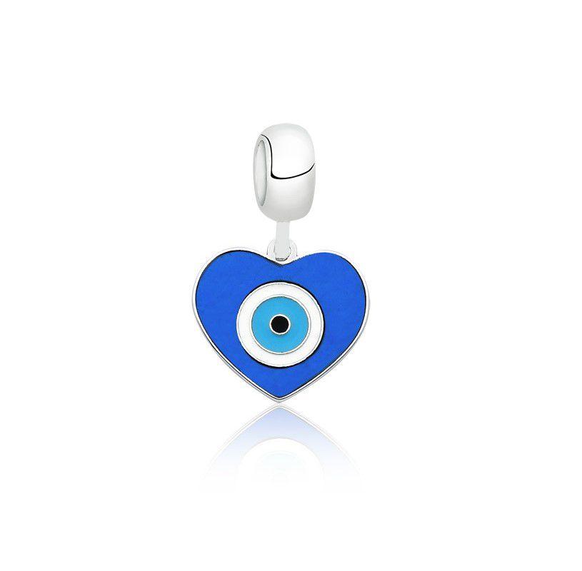 Berloque Coração Olho Grego