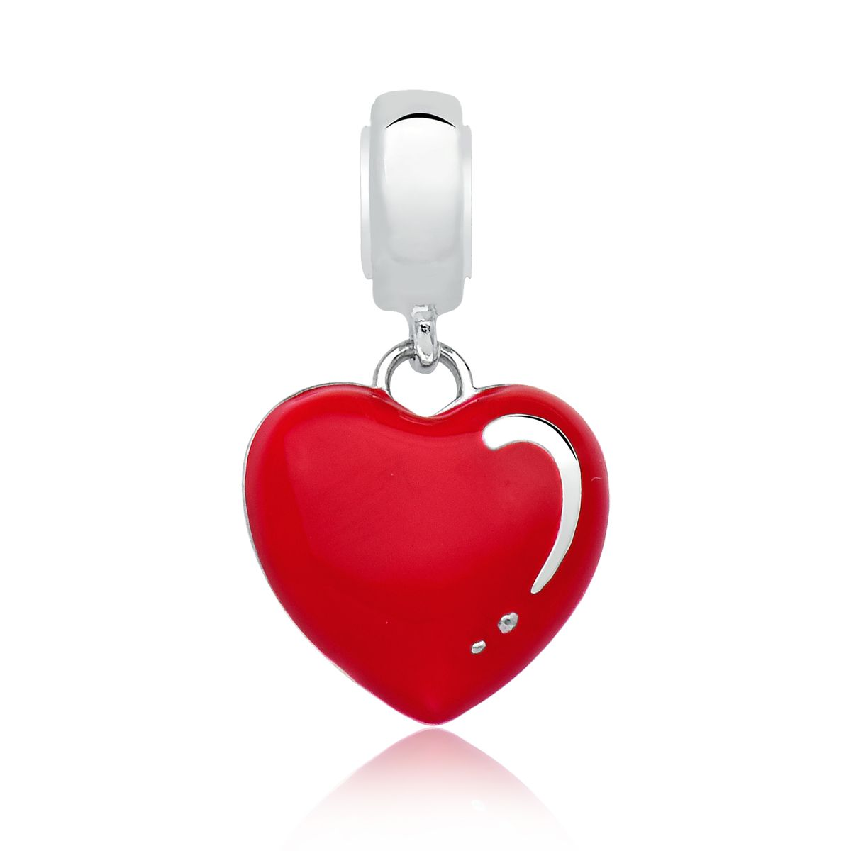 Berloque Coração Vermelho