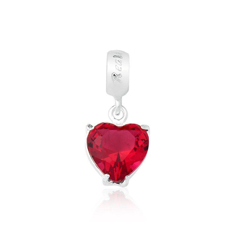 Berloque Coração Vermelho 8 MM