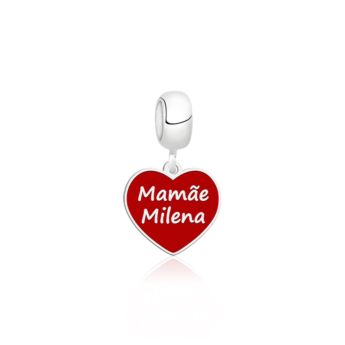 Berloque Coração Vermelho Mãmãe Personalizado (Ler Descrição)
