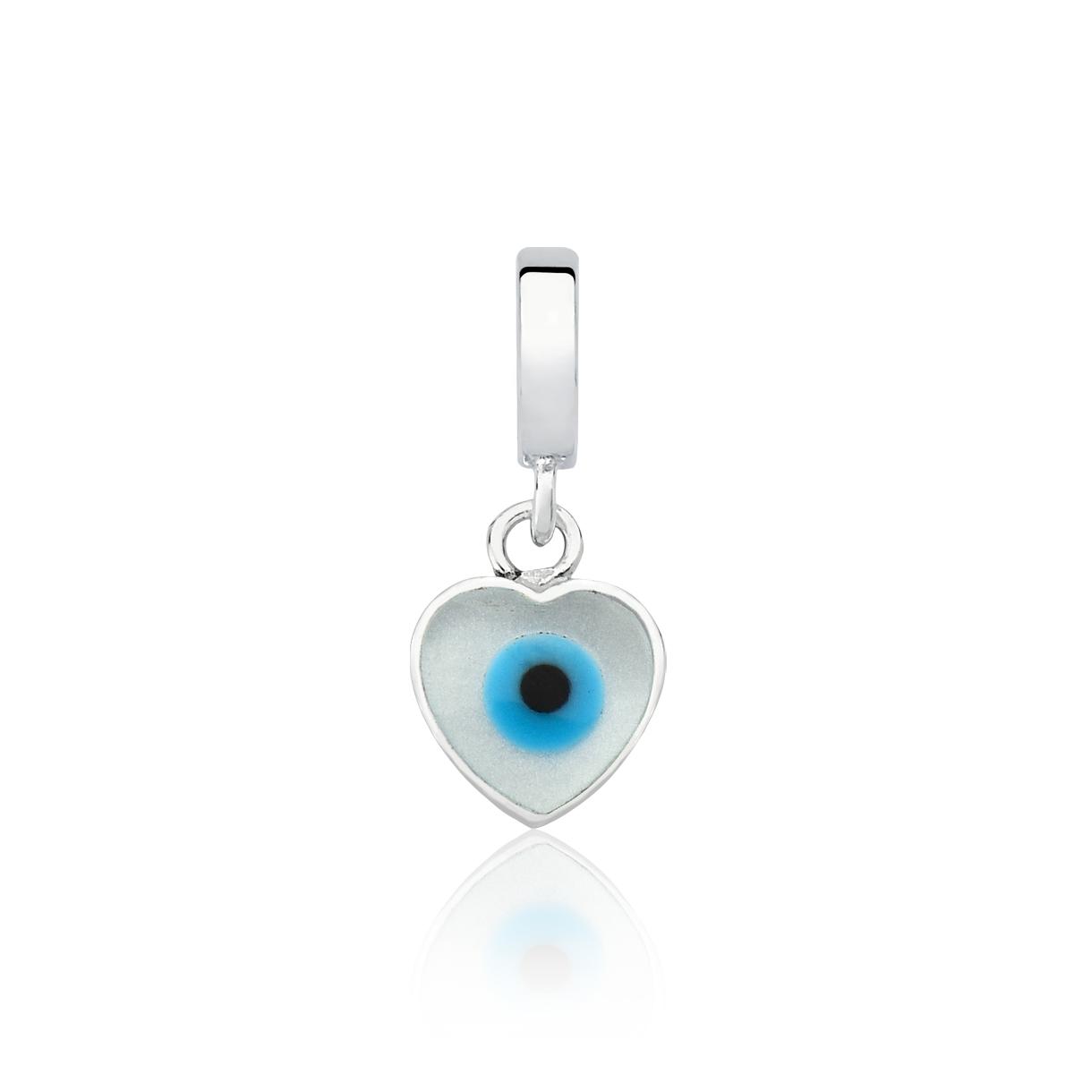 Berloque Coraçãozinho Olho Grego