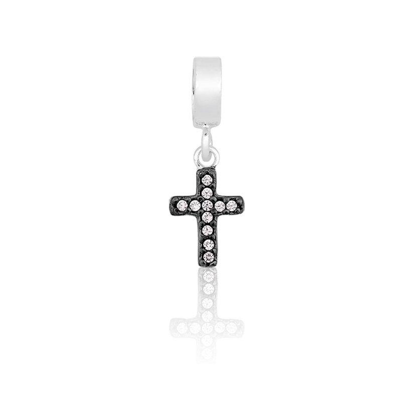 Berloque Cruz Zircônias