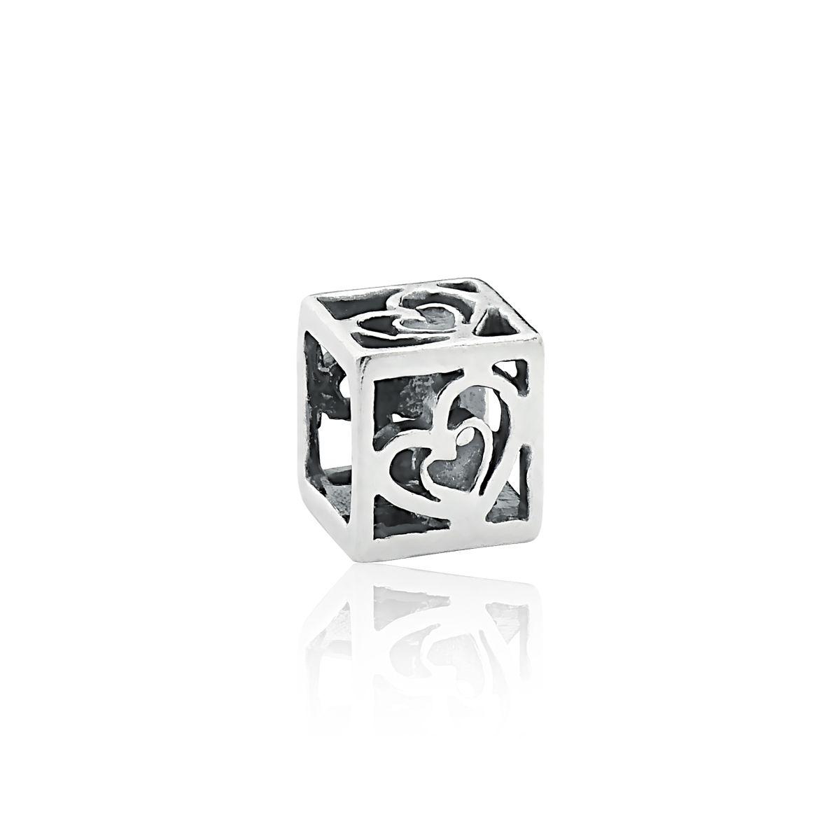 Berloque Cubo Corações