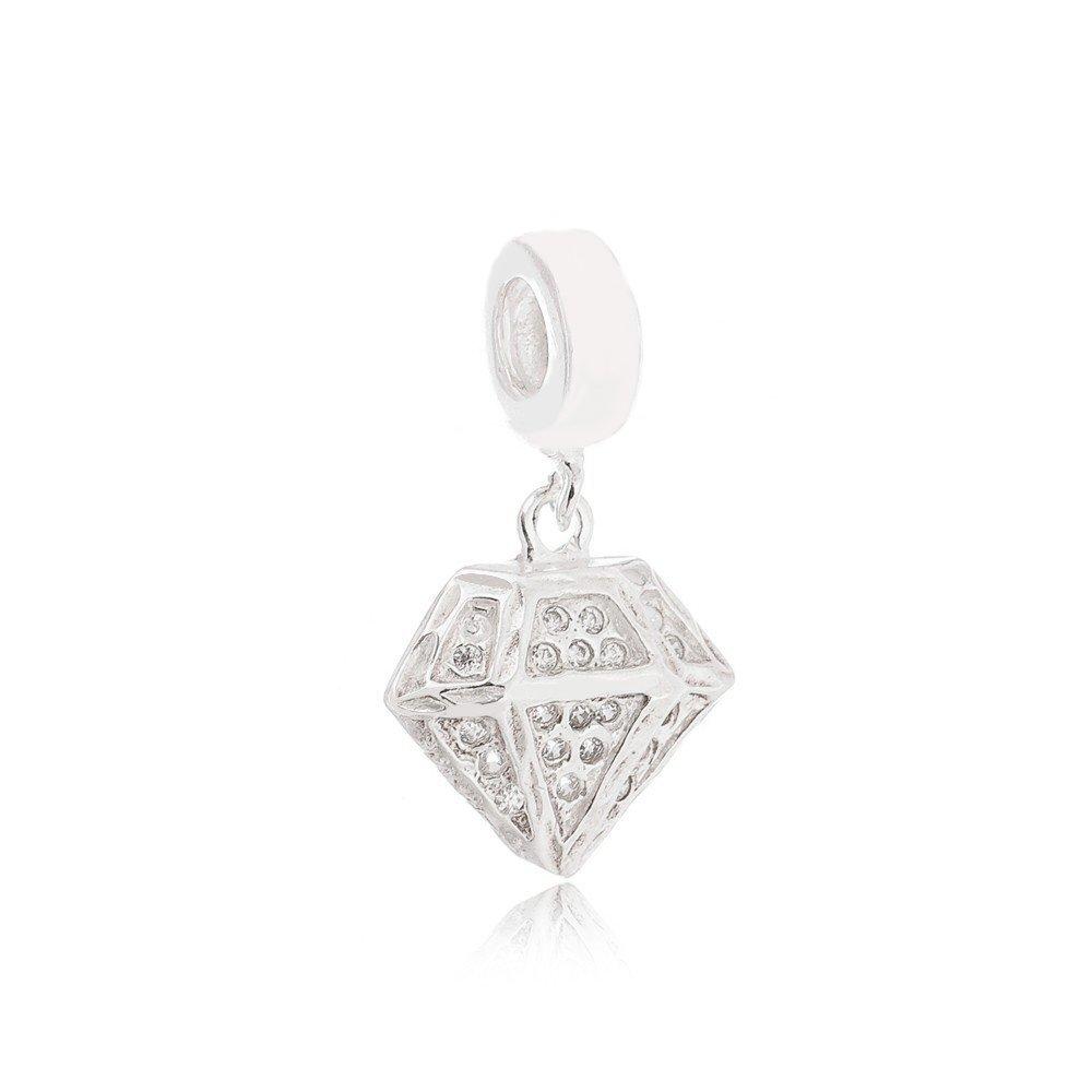 Berloque Diamante com Zircônia