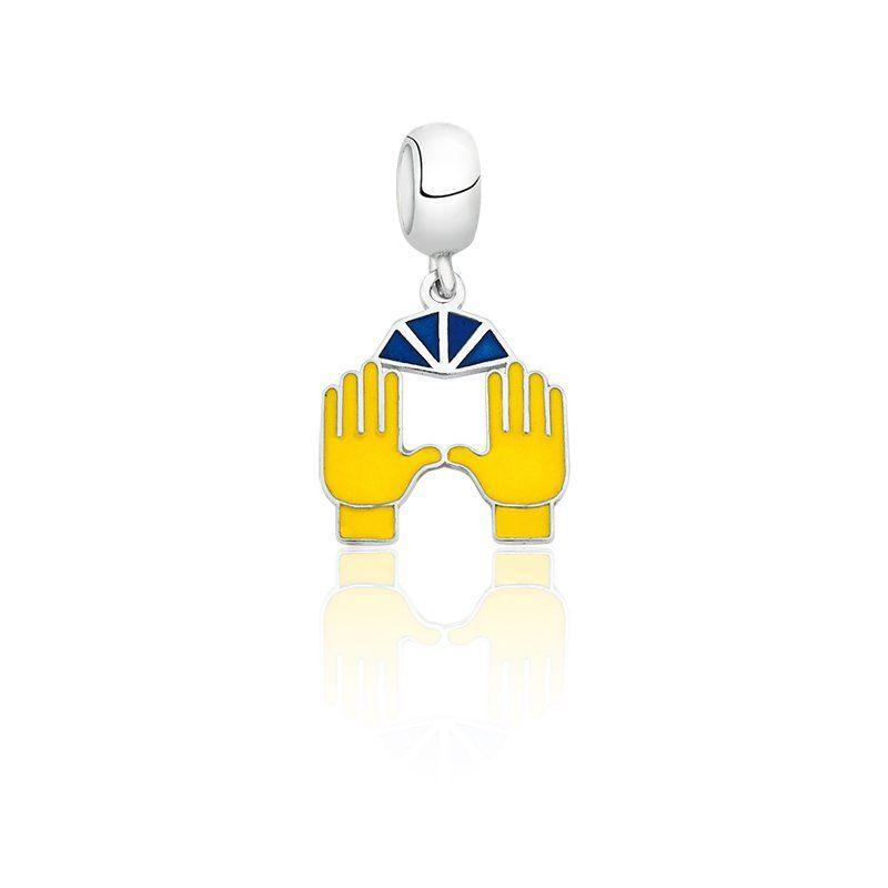 Berloque Emoji Mãos Para o Alto