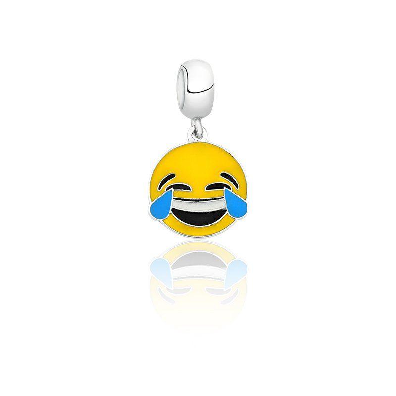 Berloque Emoji Morrendo de Rir