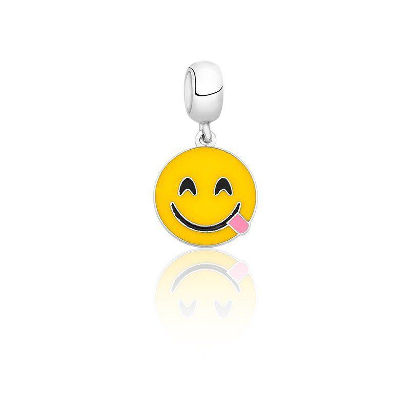 Berloque Emoji Mostrando a Língua