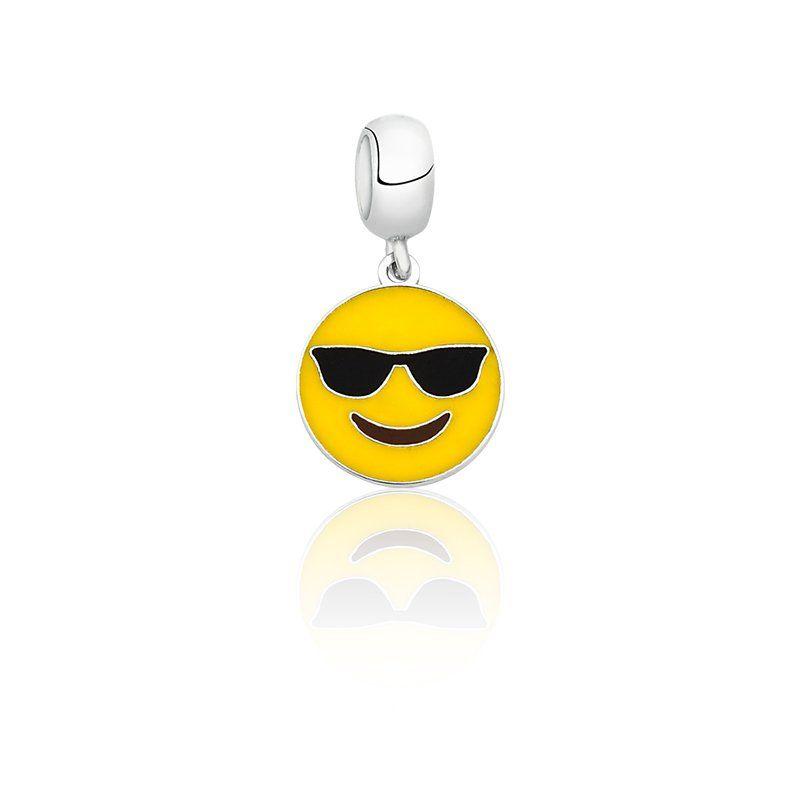 Berloque Emoji Óculos Escuro