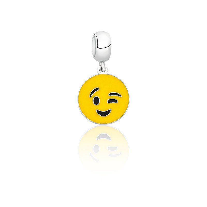 Berloque Emoji Piscando
