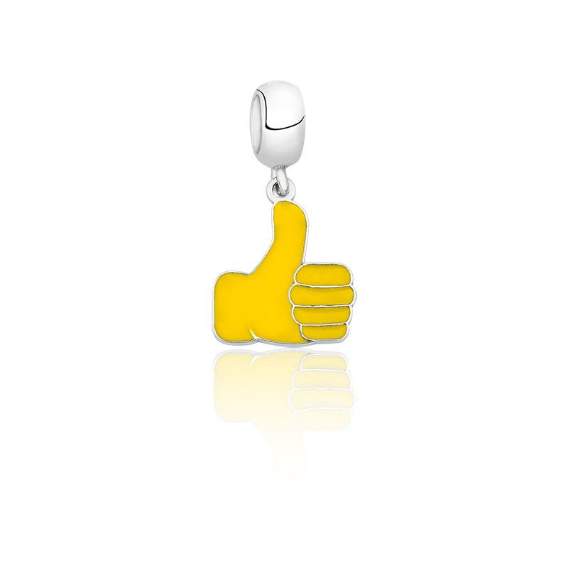 Berloque Emoji Sinal Like Joia