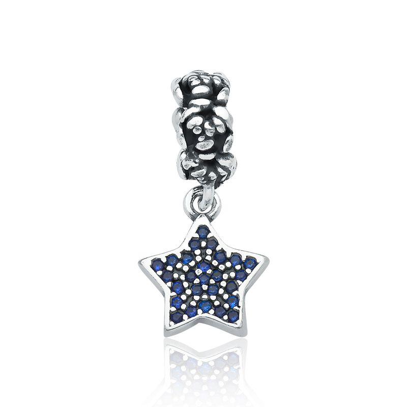 Berloque Estrela Pavê Azul