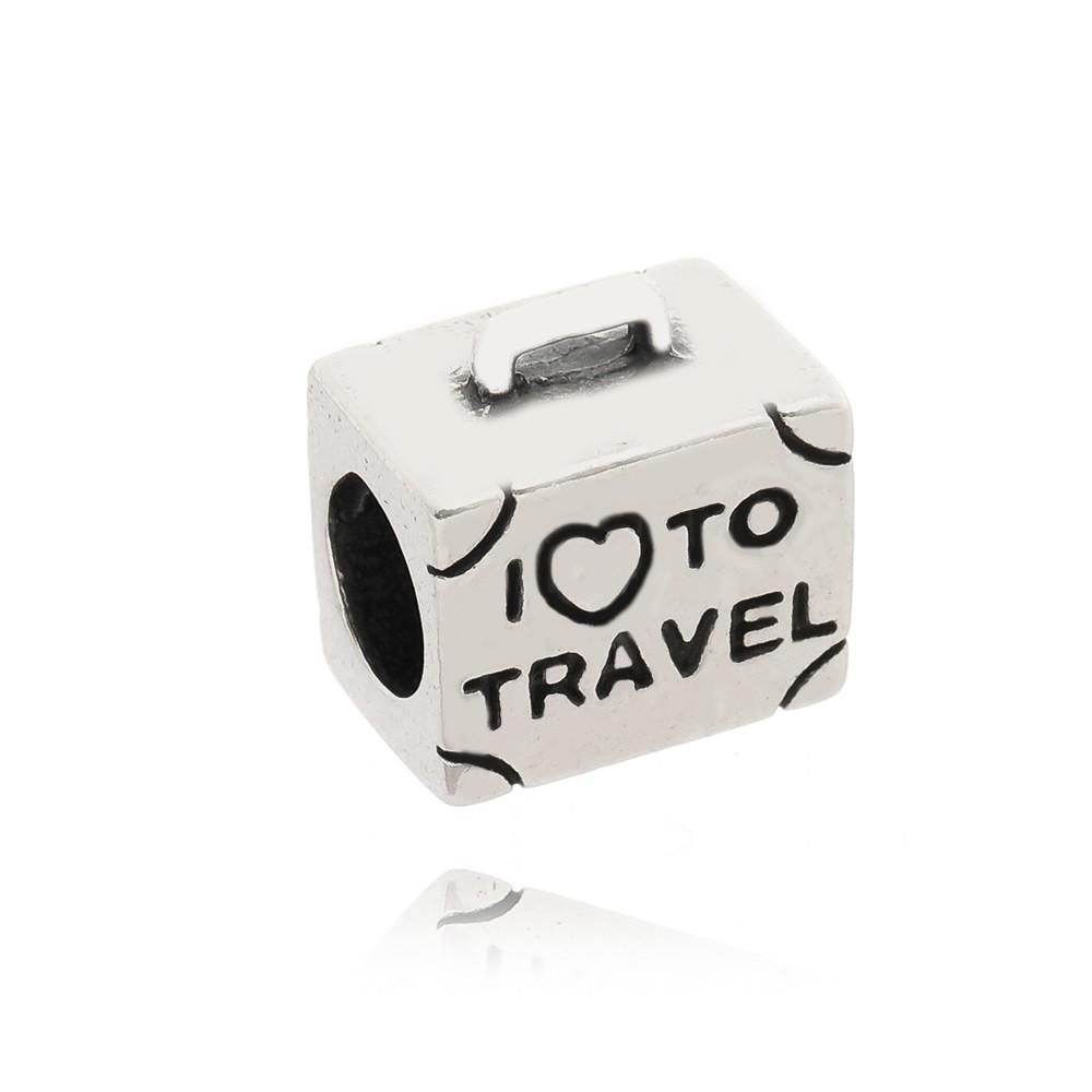 Berloque Separador Eu amo Viajar