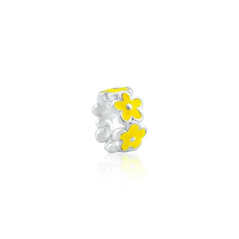 Berloque Flor Amarelo Claro