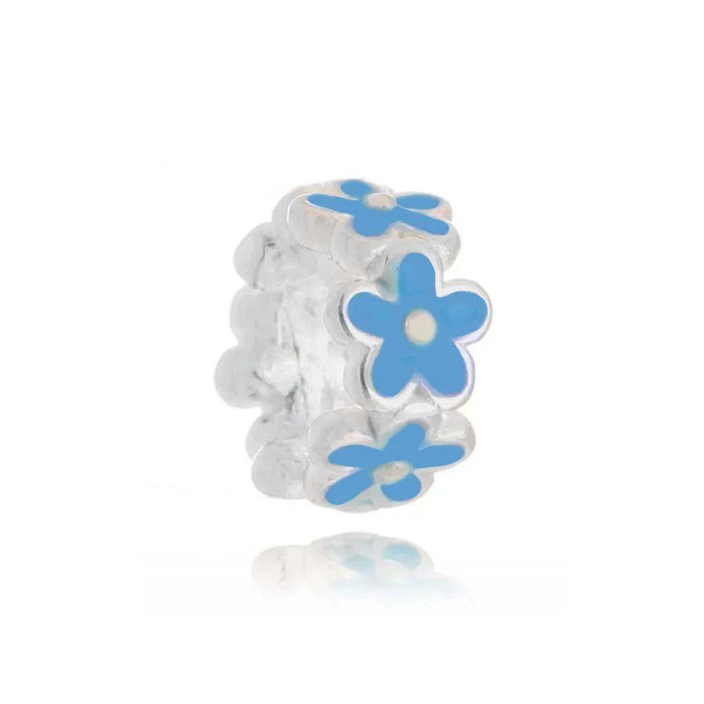 Berloque Flor Azul Claro