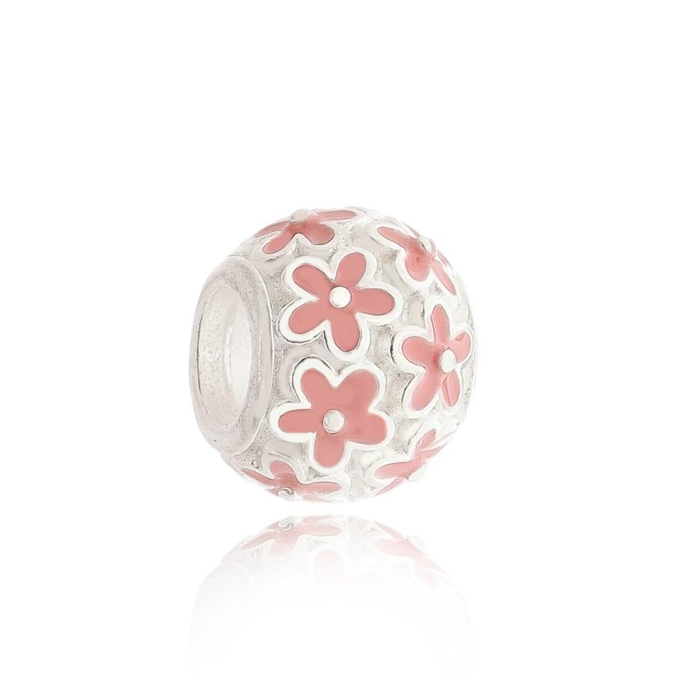 Berloque Flores Rosa