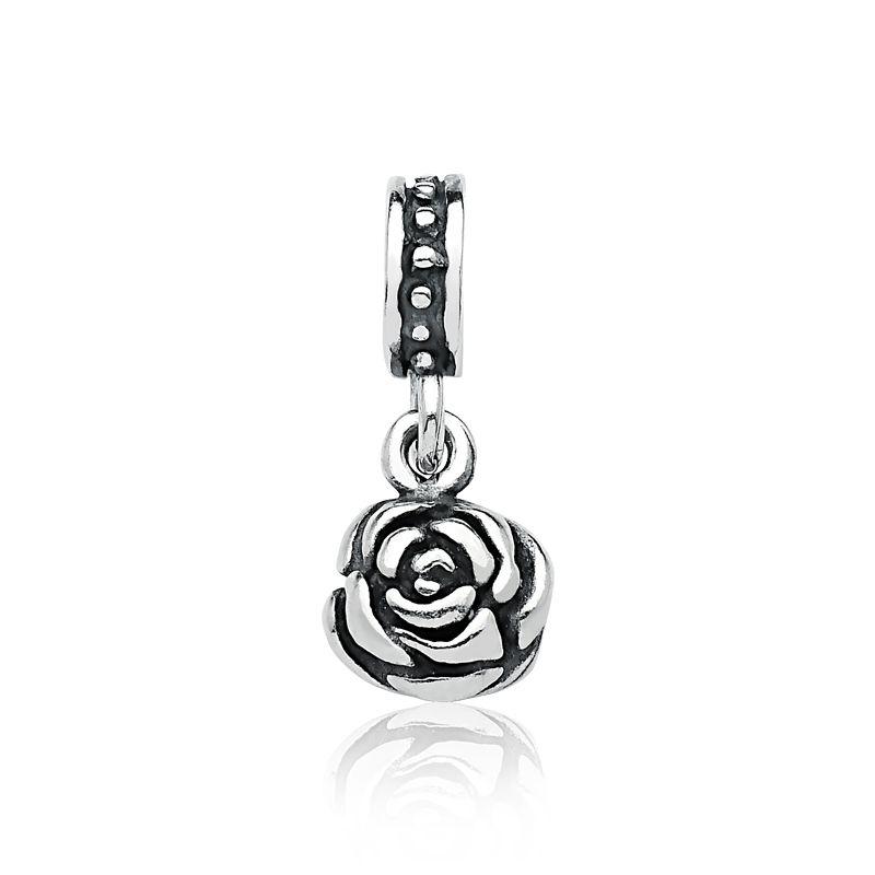 Berloque Flor Rosa
