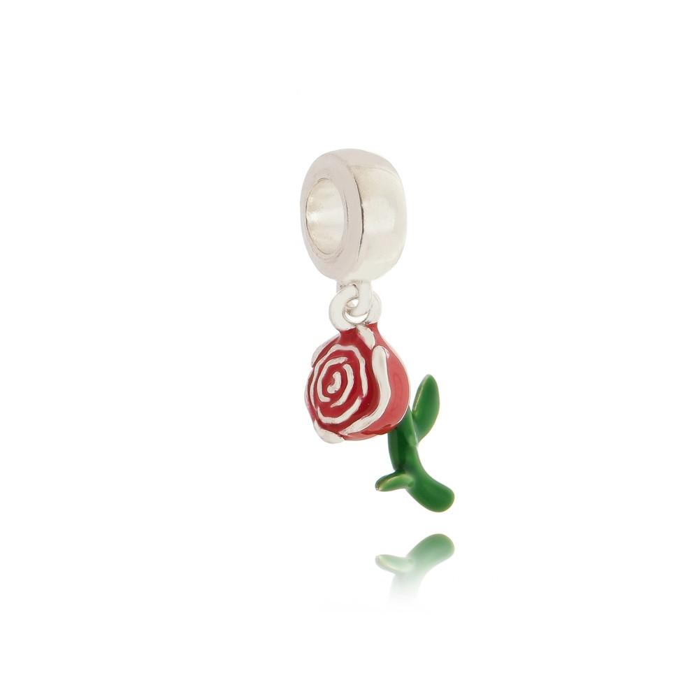 Berloque Flor Rosa - Bela