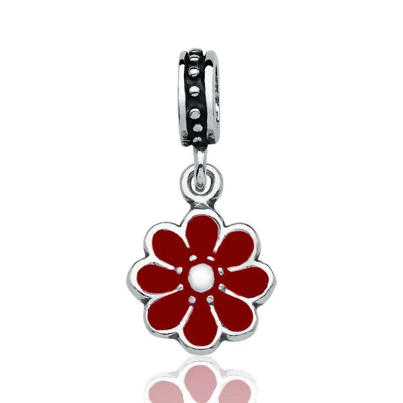 Berloque Flor Vermelha