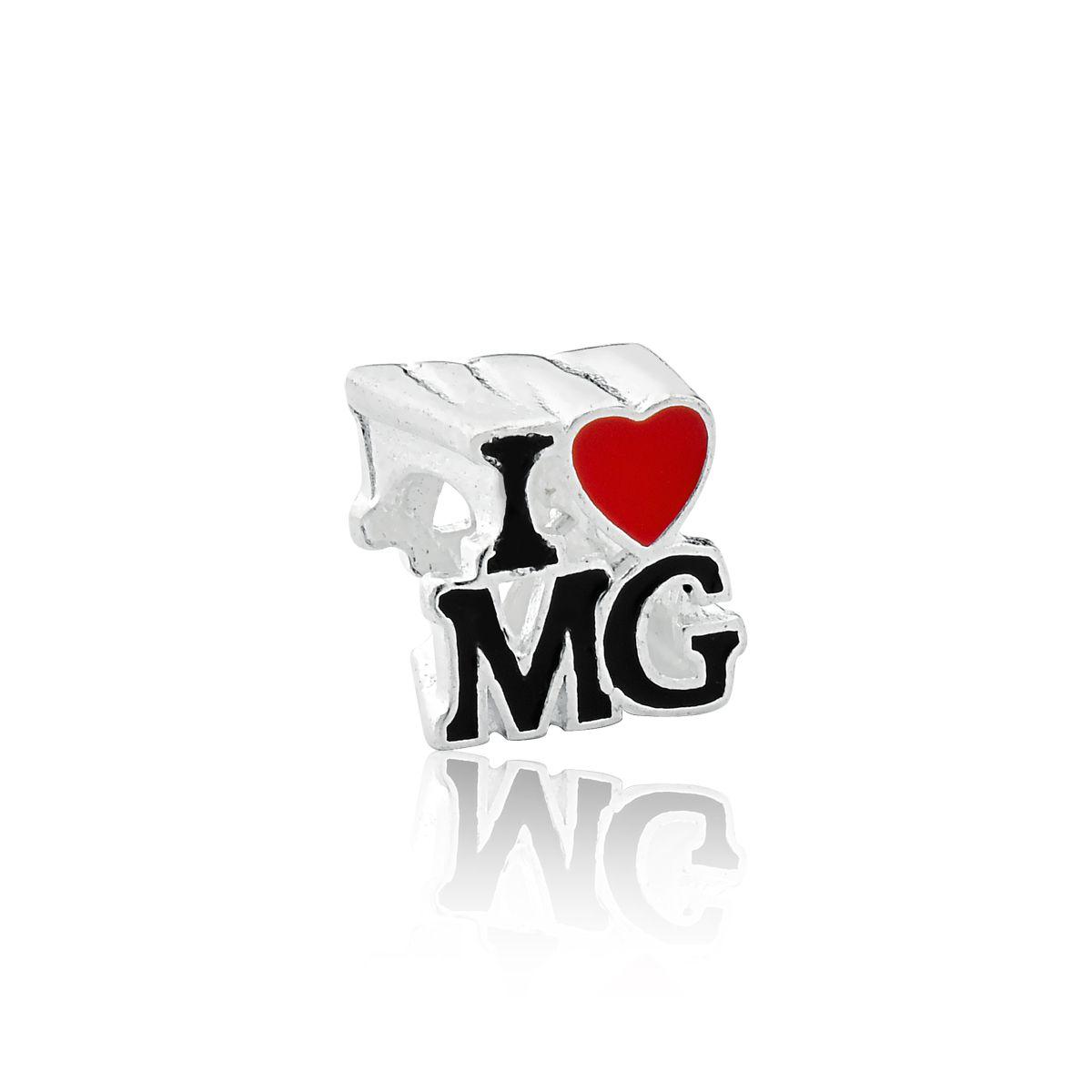 Berloque Separador I Love Mg Eu Amo Minas Gerais