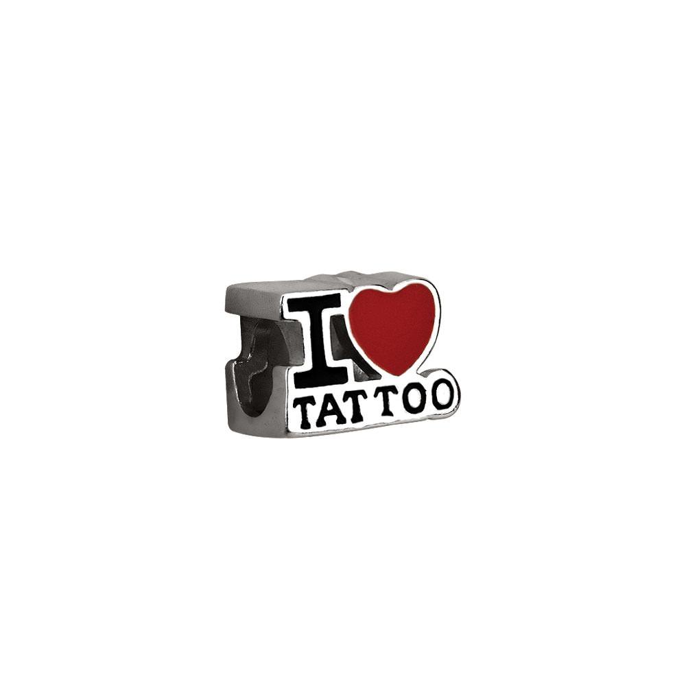 Berloque I Love Tattoo Eu Amo Tatuagem