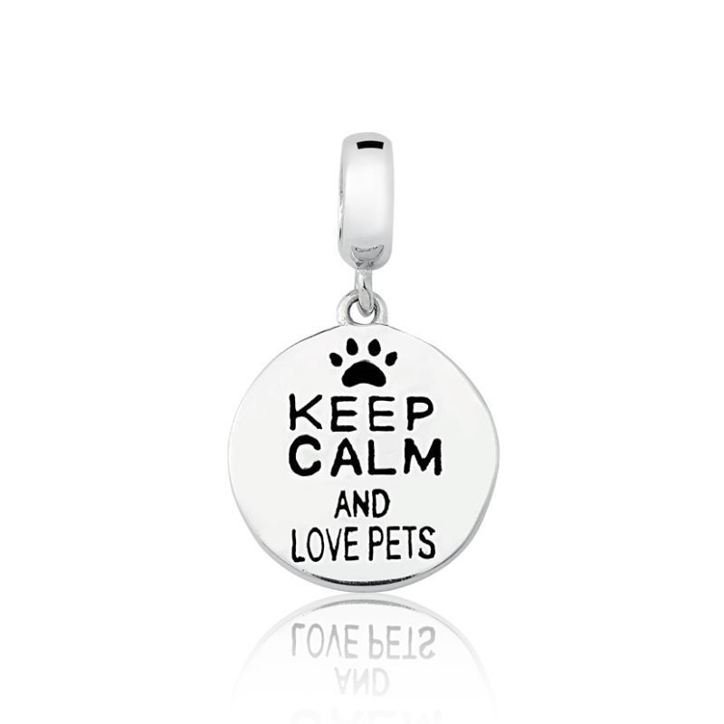 Berloque Keep Calm And Love Pets