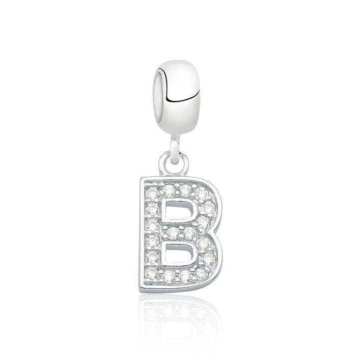 Berloque Letra B Brilhante