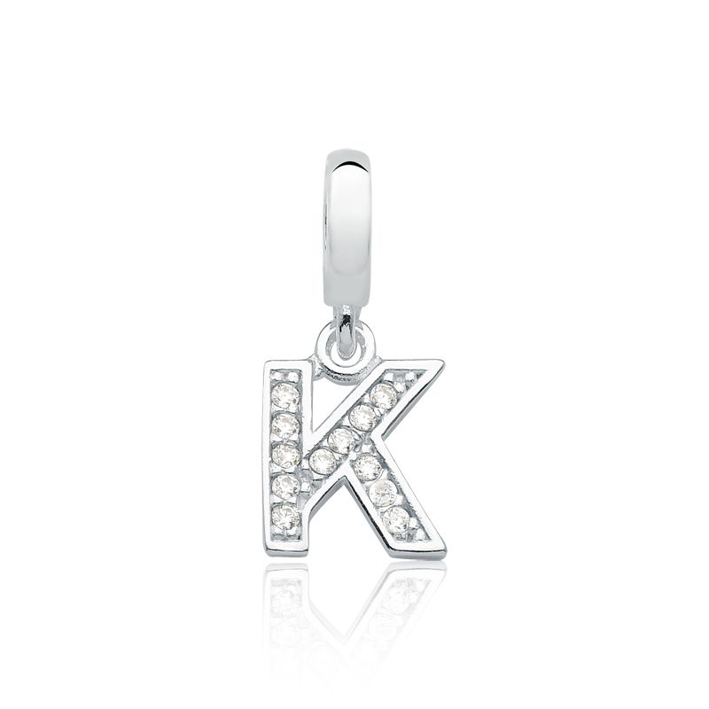 Berloque Letras K Brilhante