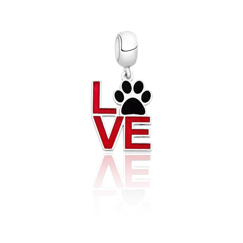 Berloque Love Patinha de Cachorro