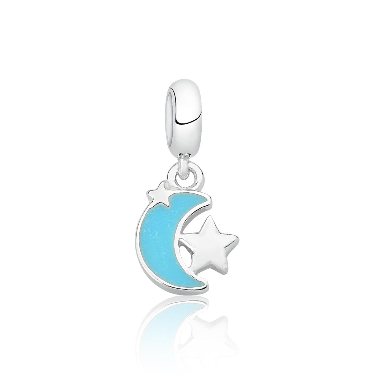 Berloque Lua Azul e Estrelas