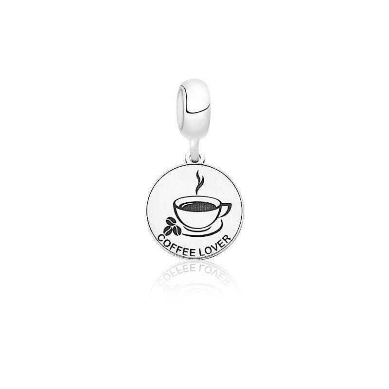 Berloque Medalha Amo Café
