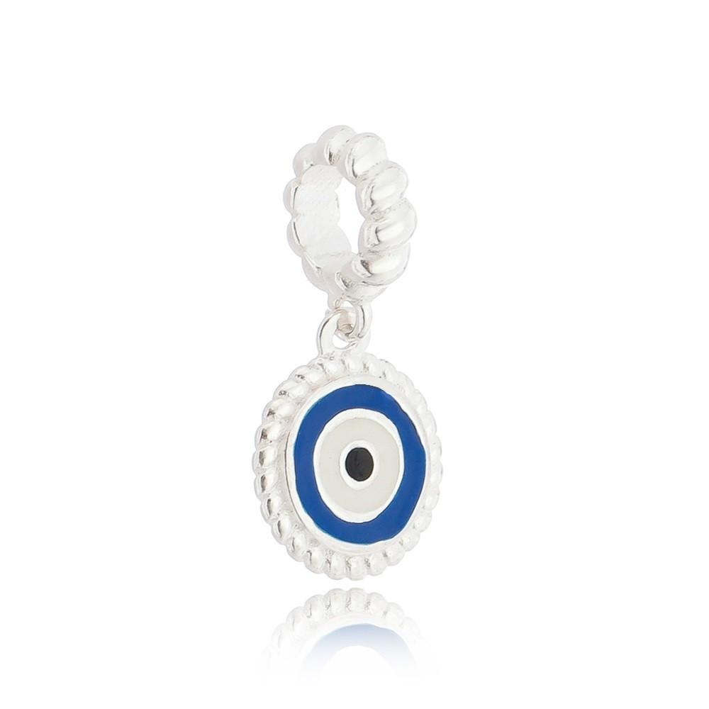 Berloque Medalha Olho Grego