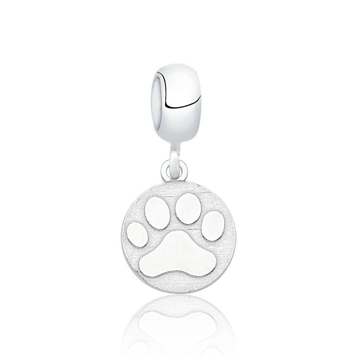 Berloque Medalha Pata De Cachorro
