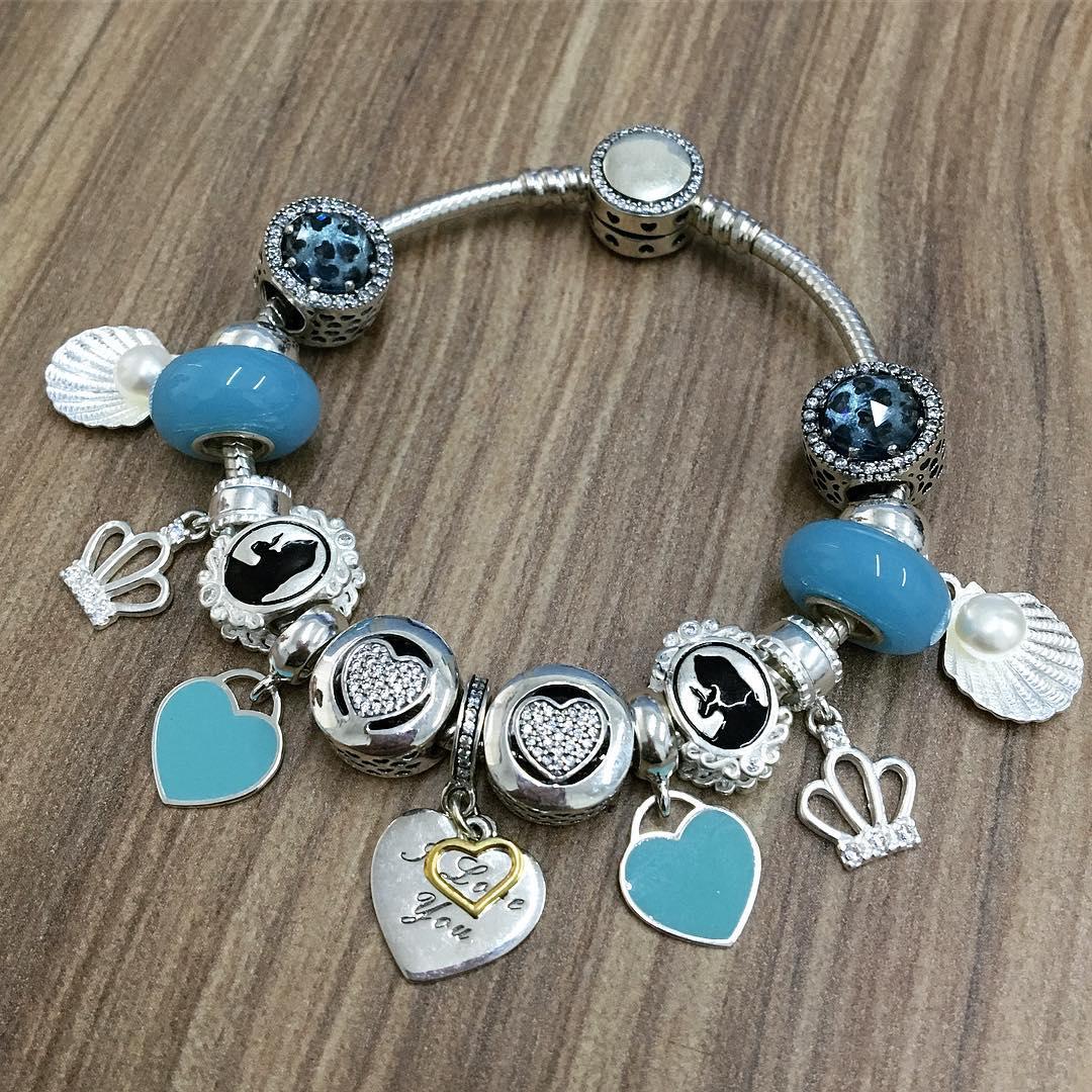 Berloque Murano Azul