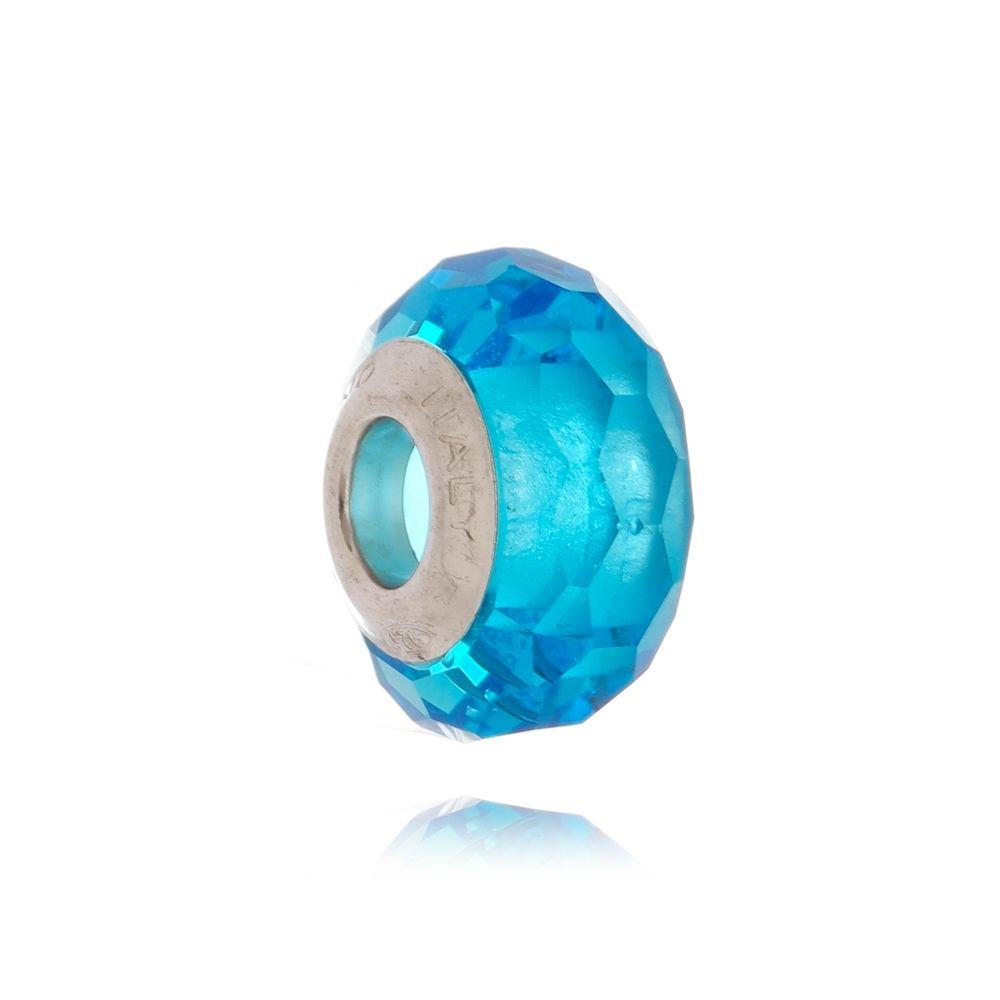 Berloque Murano Azul Facetado