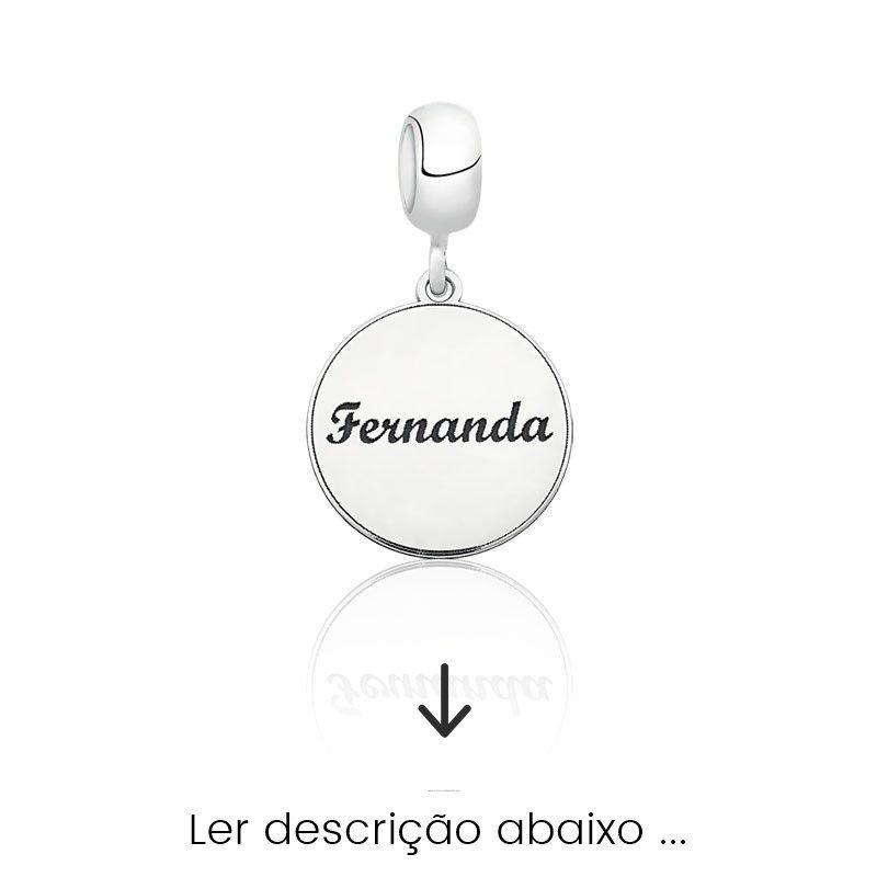 Berloque Nome Personalizado Medalha (Ler Descrição)