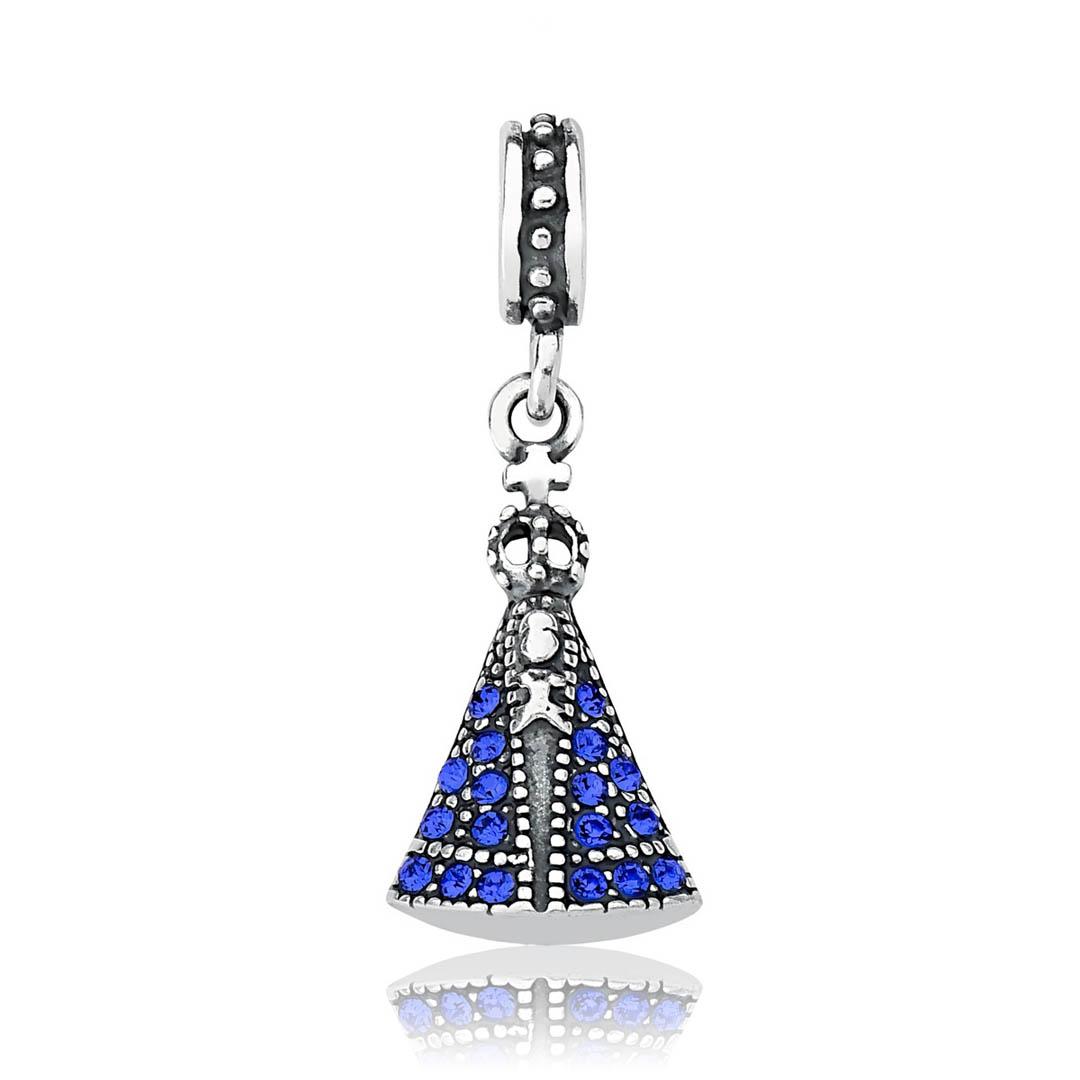 Berloque Nossa Senhora Aparecida Azul Royal