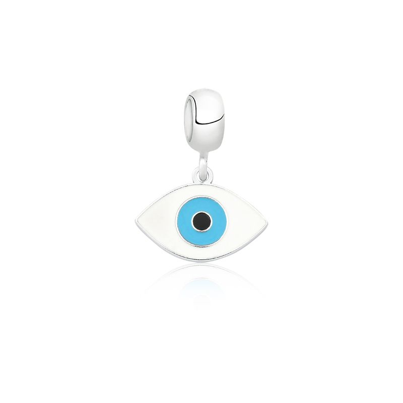 Berloque Olho Grego De Navete Branco