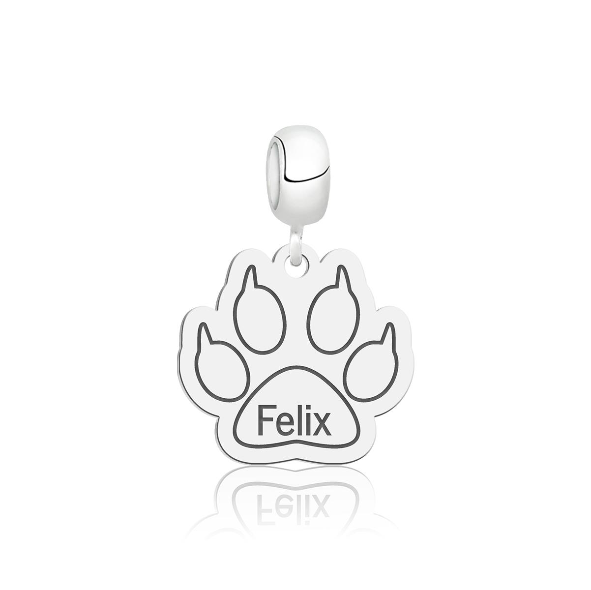 Berloque Pata de Cachorro Personalizado (Ler Descrição)
