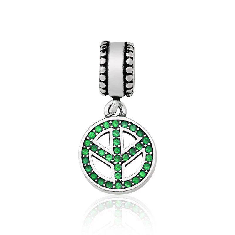 Berloque Paz e Amor Pavê Verde