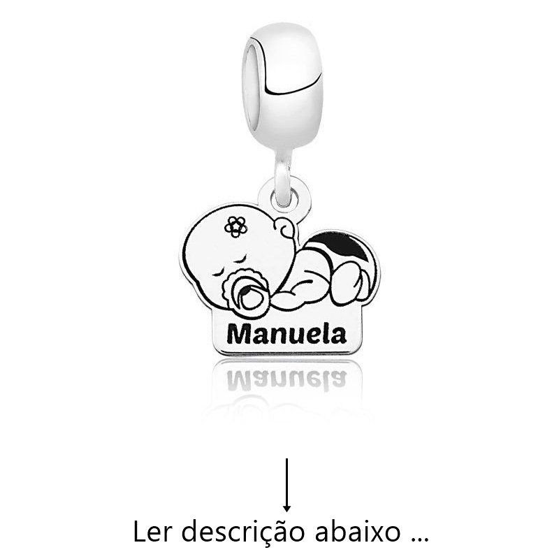 Berloque Personalizado Menina Baby (Ler Descrição)