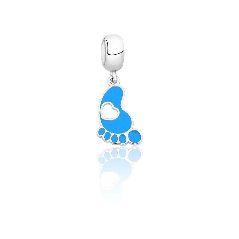 Berloque Pezinho de Bebê Azul
