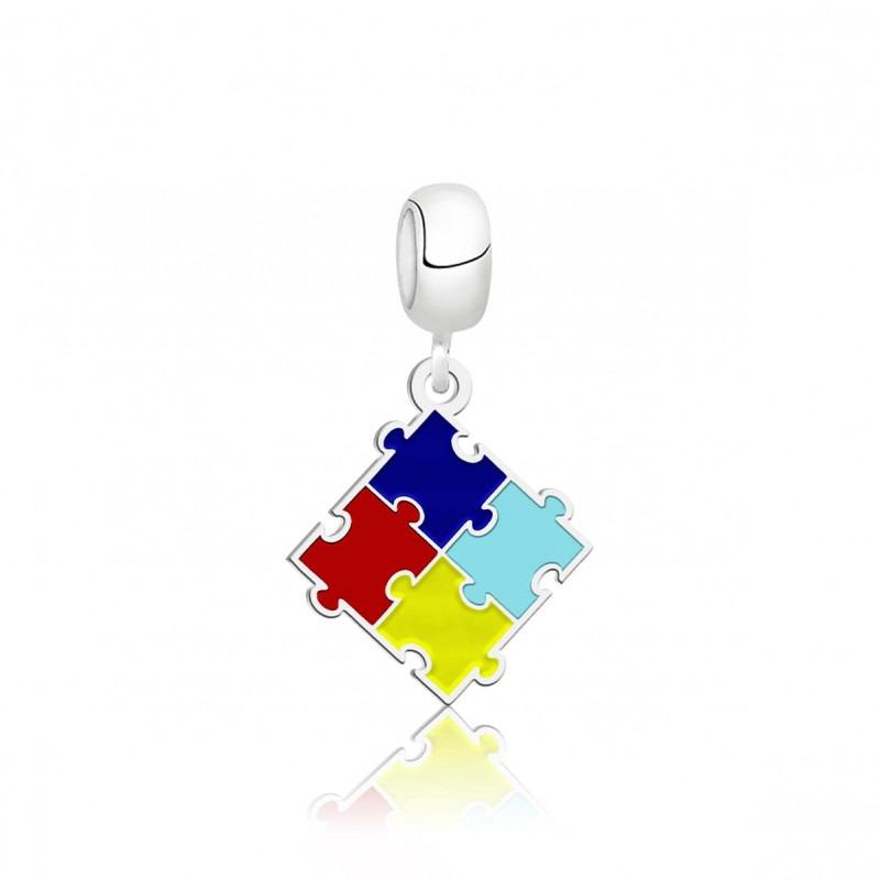 Berloque Quebra-Cabeça Símbolo do Autismo